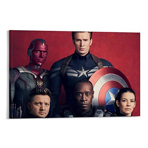 DRAGON VINES Pintura moderna de lona de avispas con diseño de Capitán América, Visión, Hawkeye, Gears of War, decoración moderna para el hogar y la oficina, 60 x 90 cm