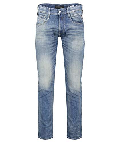 REPLAY Anbass Jeans, Medium Blue 584, 31W / 32L Uomo