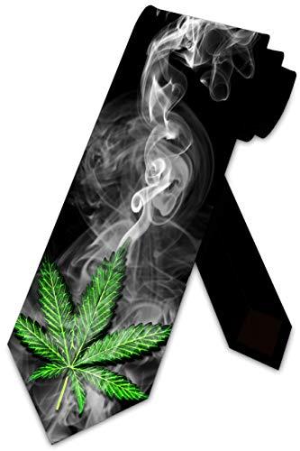 LREFON Cannabis Krawatten Mens Weed CBD...