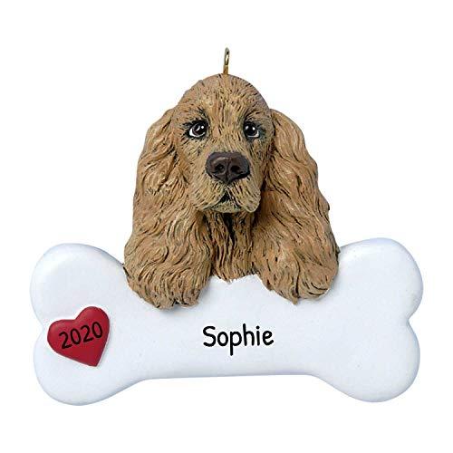 Clumber Spaniel Dog Photo Slate Christmas Gift Ornament AD-CS1SL