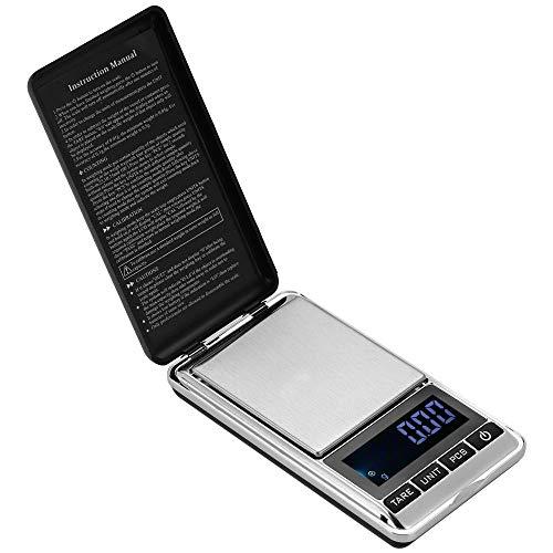 Báscula de bolsillo de alta precisión, joyería precisa, báscula de cocina, Mini báscula para hornear alimentos, báscula de cocina eléctrica, herramienta de cocina 0,1g 1000g