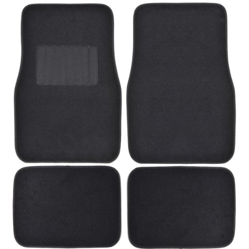Motor Trend FatRug Carpet Floor Mats - Black - Thick Robust Auto Gear for Your...