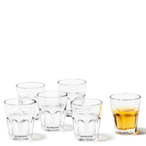 Leonardo Rock Schnaps-Gläser, 6er Set, spülmaschinengeeignete Shot-Gläser, Schnaps-Becher aus Glas, Stamper, Gläser-Set, 5 cl, 50 ml, 012994