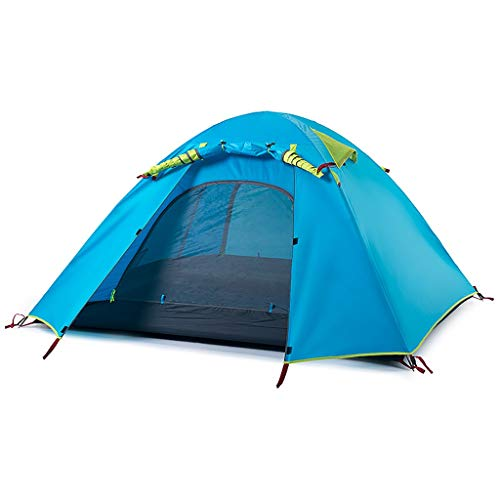 LZL Tents Tent Ultralight Easy Set Up and Carry Family Tent UPF50,Rainproof PU2000 Backpacking Tent for Camping Hiking Outdoor Outdoor Tent (Color : Blue, Size : 4 person)