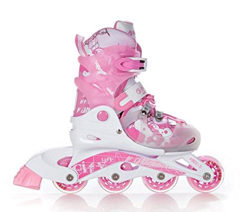 RAVEN Mädchen Inlineskates Rollschuhe Princess Verstellbar, Pink, M