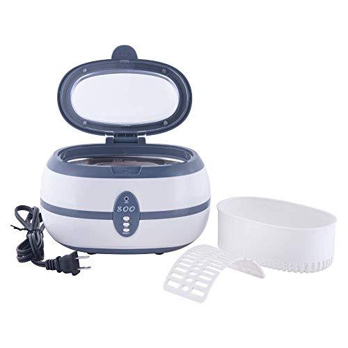 per Gioielli//Occhiali//Orologi//Anelli//Collane//Monete//Dentiere ecc 600 ml dispositivo di pulizia ad ultrasuoni Luckywing Pulitore a ultrasuoni