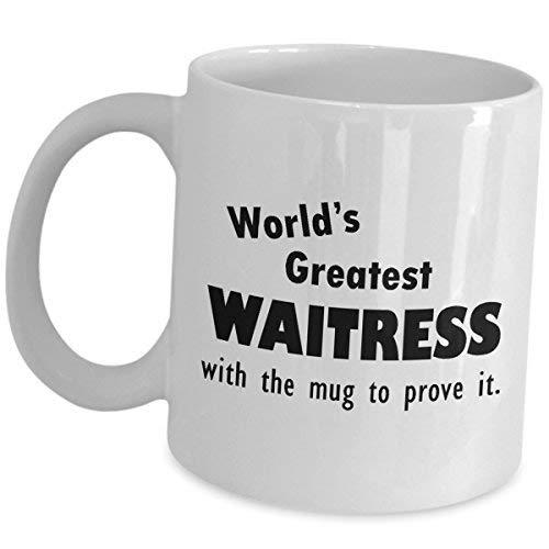 Cukudy cadeau voor 's werelds grootste serveerster met de mok koffie thee Cup grappige schattige waardering erkenning award promotie beloning baan trots geschenken restaurant cafetaria voedsel bestellen Taker voor vrouwen server