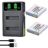 PowerTrust NB-6L NB-6LH - Batería con cargador para Canon Powershot SX710, SX700 HS, SX270HS, SX530, SX600hs, 1300is, S120 is, 260hs, 280HS, S200, SX170 is, S110 y S120