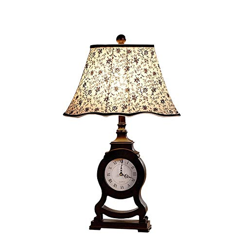 Nachtkastlampje Land Romeinse klok tafellamp slaapkamer bedlampje creatieve werkkamer Europese retro code warme woonkamer decoratie hotel lichten