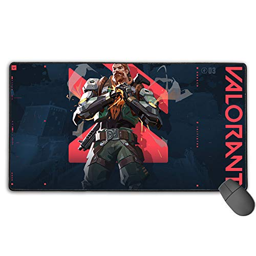 Valorant Game Breach Extended Size Professional Gaming Mouse Pad Computer Keyboard Pad Mat for Pc Computer Laptop 11.8X31.5 in(30Cm X 80Cm)
