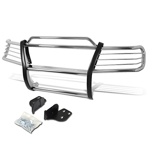 Replacement for Jeep Grand Cherokee WJ Front Bumper Protector Brush Grille Guard (Chrome)
