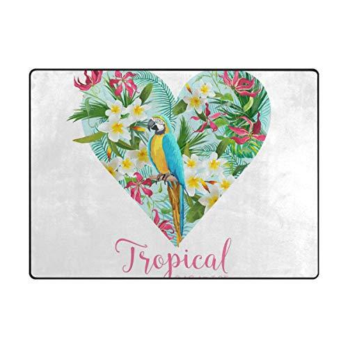 MALPLENA Paradis Tropical Zone Tapis antidérapant Pad Moyen d'entrée Paillasson Tapis de Sol Chaussures Grattoir, Polyester, 1, 63 x 48 inch