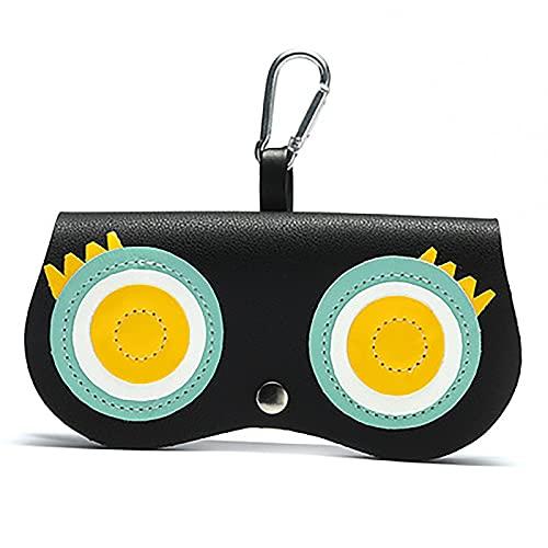 WYQO Funda de piel sintética portátil para gafas de sol, funda suave con estampado animal, funda protectora para gafas adecuada para viajes, compras y playa (A)
