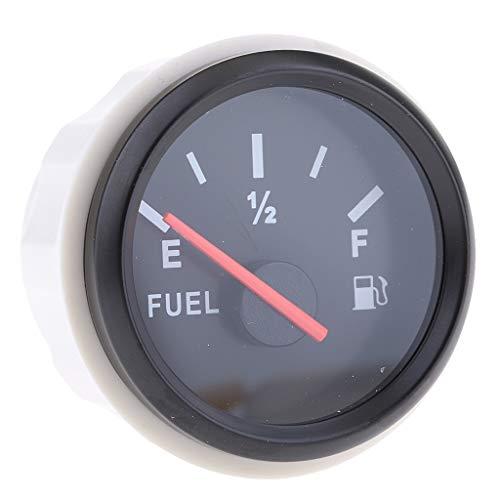 Medidor de Nivel de Gasolina de 52mm Accesorio de Modificacíon Facíl Instalar - Negro 2