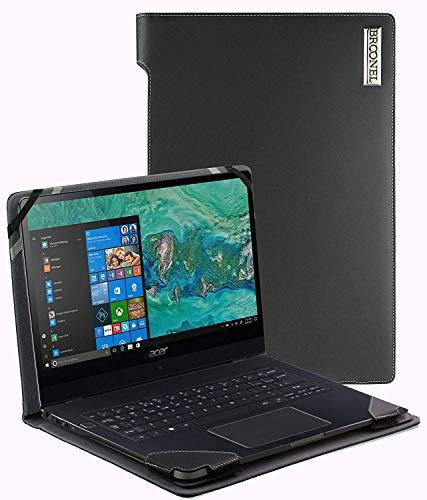 Broonel - Profile Series - Schwarzes Premium Leder Case/Cover Trage Tasche Speziell für Das Lenovo Yoga S730 13.3