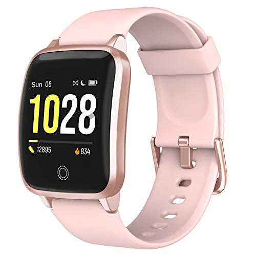 LETSCOM Smart Watch, Fitness Trackers with Heart Rate Monitor Step Calorie Counter Sleep Monitor, IP68 Waterproof Smartwatch 1.3' Color Screen, Activity Tracker Pedometer for Women and Men