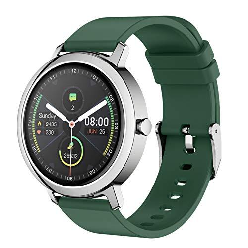 LTLGHY Smartwatch, Reloj Inteligente 1.3 Pulgadas Táctil Completa IP68, Pulsera De Actividad Deportivo Pulsómetro Monitor De Sueño, Control De Musica para Hombre Mujer Adolescentes,Verde