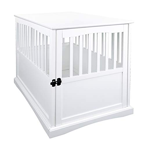 Casual Home 600-41 Wooden Pet Crate, White, 24' H