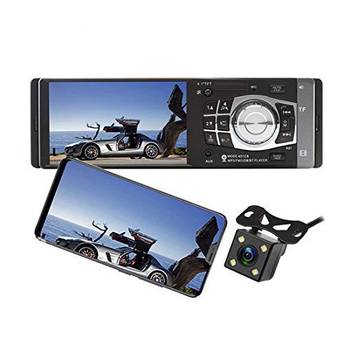 LUOAN AUTO PARTS autoradio 1 One DIN 12v Car Audio Stereo Multimedia Player Schermo 4.1 Pollici autoradio Bluetooth SD USB TF Supporto Camera 4012B + 4 LED