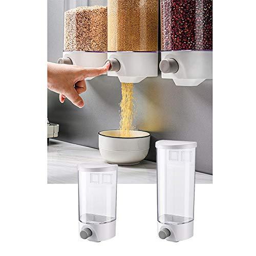 Banane Müslispender Wandmontage Cerealienspender, Luftdichter Lebensmittelbehälter, Frisch Und Einfach, Für Getreide-Reisbohnen-Getreide, Weiß Transparent, Zwei Größen
