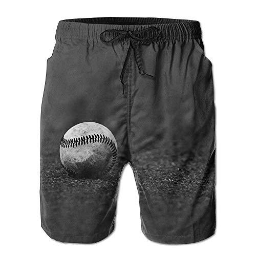 maichengxuan Beach Shorts Baseball Men's Sports Running Swim Board Shorts with Pocket No Mesh Lining