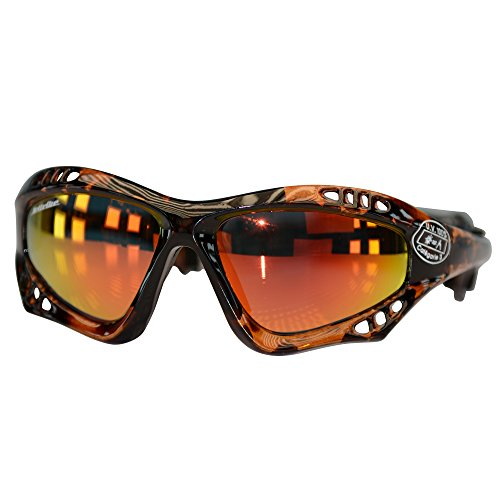 Pro Goggles Tortise Fade Frame/Revo Lens + Case PWC Jetski Racer