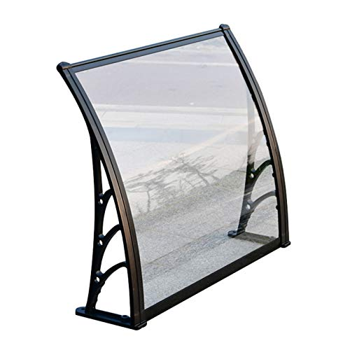 LIANGLIANG Awning Rain Door Canopy, Polycarbonate Rainproof Anti-smash Strong Bearing Capacity, Outdoor Patio Home Rainy Ride (Color : Transparent, Size : 150x60cm)
