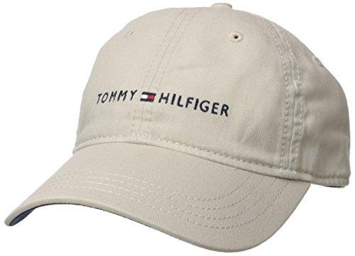 Tommy Hilfiger Men's Logo Dad Baseball Cap, Tommy Stone, One Size