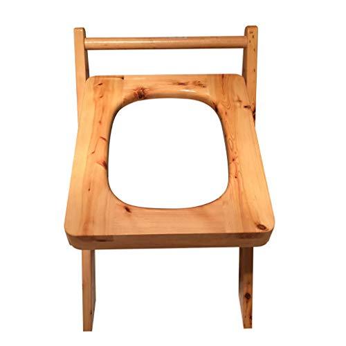 Wilk nachtkastje commodes toiletstoel, draagbaar massief hout commode stoel, waterdichte badstoel sterke belasting lager/hout kleur/,vouwstoel, ouderen, gehandicapten