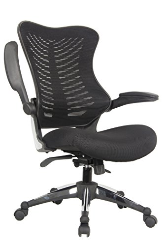 Office Factor Executive Ergonomic Office Chair Back Mesh On Seat and Back Flip-up Arms Molded Seat