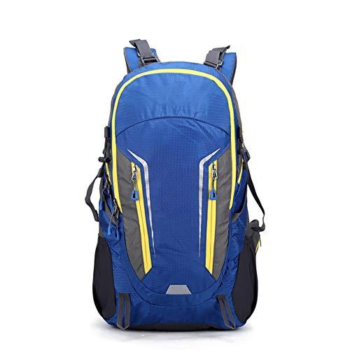 GAOJIN Hiking Backpack 40L,Waterproof Outdoor Sport Camping Pack Mountaineering Climbing Knapsack Trekking Daypack for Kids Men Women,Blue
