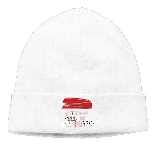 Richard Lyons Momens Have You Seen My Stapler Soft Street Dance White Beanies Cap Hat