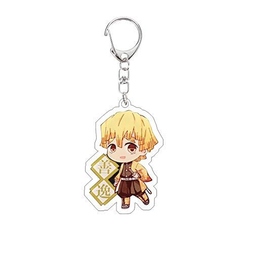 / Demon Slayer Keychain en Acrylique Kimetsu no Yaiba Porte-clés Japonais Anime Nouveauté Sac Pendentif Accessoire, h03