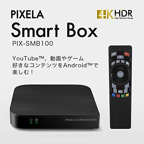 PIXELASmartBox(ピクセラオンラインモデル)PIX-SMB1004KHDR対応Wi-FiLAN経由androidTVテレビで楽しむメディアストリーミング端末スポーツ音楽ゲーム【正規代理店品】