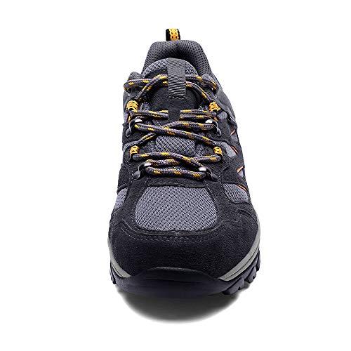 SILENTCARE Mens Walking Shoes Breathable Waterproof Hiking Shoes Trainers Anti Slip Lightweight Footwear Sneakers for…