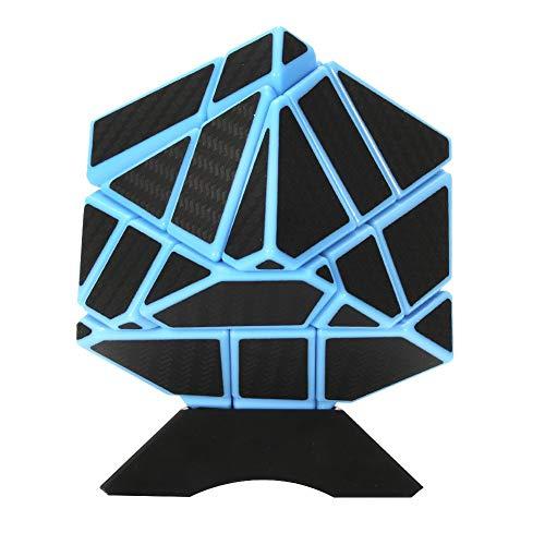 ThinkMax Ghost Cube, 3 * 3 Magic Speed Cube, Rompecabezas para niños y Adultos, Azul y Negro