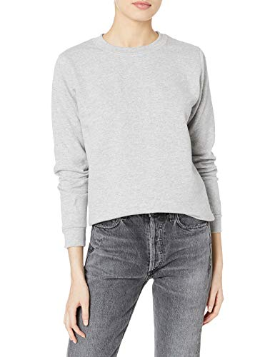 Gildan Women's Fleece Crewneck Sweatshirt, Style G18000FL, Sport Grey, Large