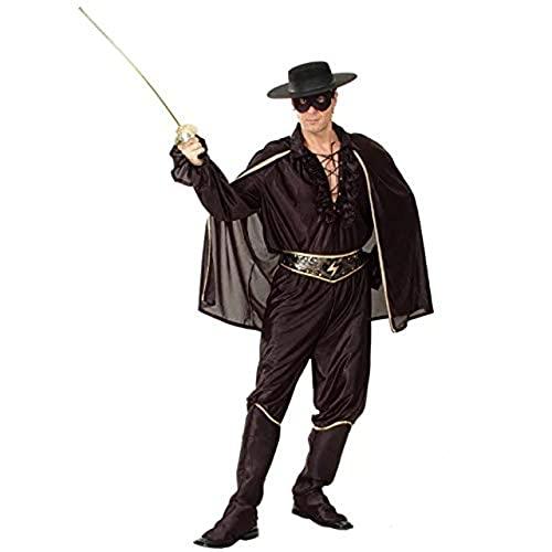 thematys® Zorro Kostüm Hut Anzug Umhang Set Bandit für Herren Damen Männer Erwachsene - für Cosplay, Karneval, Mottoparty & Halloween - Einheitsgröße 160-180cm