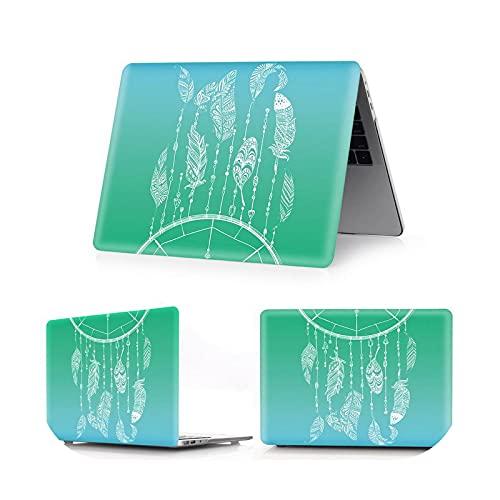 Funda de cristal/color para MacBook Air Pro Retina M1 Chip 11 12 13 15 16 pulgadas, funda para 2020 Air Pro 13 A2179 A2289 A2337 A2338-jianbianlv-Air 13 A1369 A1466
