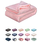 Fuzzy Throw Blanket, Plush Fleece Blankets for Adults, Toddler, Boys and Girls, Warm Soft Blankets and Throws for Bed, Couch, Sofa, Travel and Outdoor, Camping (40Wx60L, M-Pink)