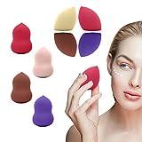 Liwein 8 Pièces Éponge de Maquillage,Mélangeur de Beauté Sans Latex Hypoallergénique Professionnel Éponges Cosmétiques pour Appliquer Fond de Teint Blush Correcteur Yeux Visage Poudre Crème