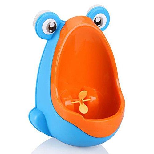 desuper Rana Niños Formación de inodoro de orinal Niños Urinario para niños PEE Trainer baño azul