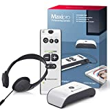 Bellman & Symfon Maxi Pro Bluetooth Personal Sound Amplifier + TV Listening Kit for Difficult Hearing Situations with Headphones with Mic - Wireless Digital Audio, Clarifies Sound - Easy to Use