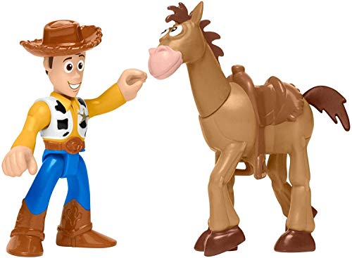 Toy Story Fisher-Price Disney/Pixar Imaginext 4 Woody & Bullsey 2-Pack