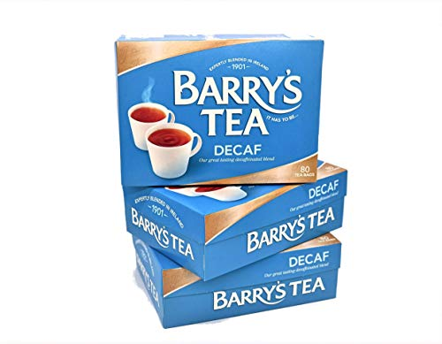 Barry's Tea Decaf Blend 80 Teabags (3 Pack), Fresh from Barry's Tea in Ireland
