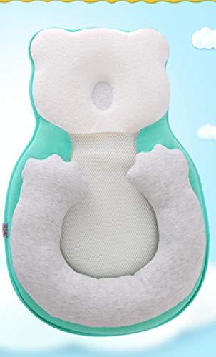 Almohada de estereotipos para bebés, almohada de colchón antivuelco para recién nacidos, para 0-12 meses, almohadilla de posicionamiento para dormir para bebés, almohada de algodón