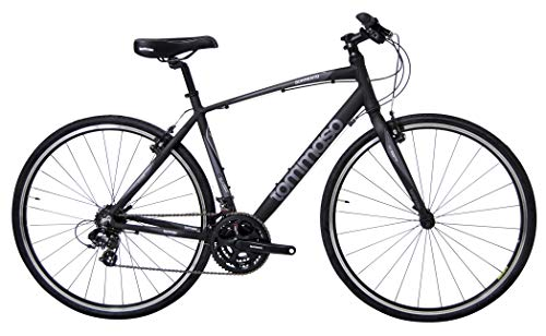 Tommaso Sorrento Shimano Tourney Hybrid Fitness Bike, Matte Black/Grey - Large