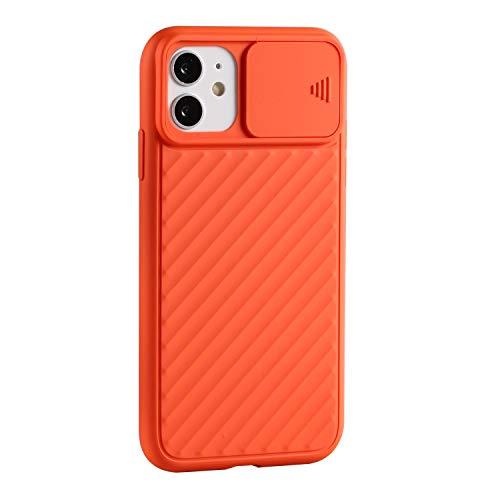 YYhin Funda blanda para iPhone 12 Pro Max con ventana de protección para cámara de teléfono, color naranja