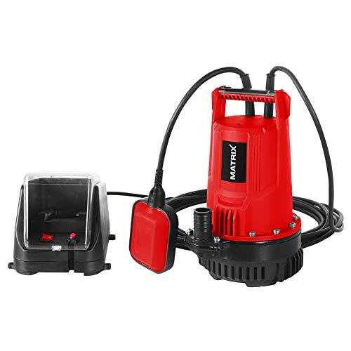 Matrix 511010593 Akku Tauchpumpe CP 20 X-ONE, 100 W, Rot, Schwarz