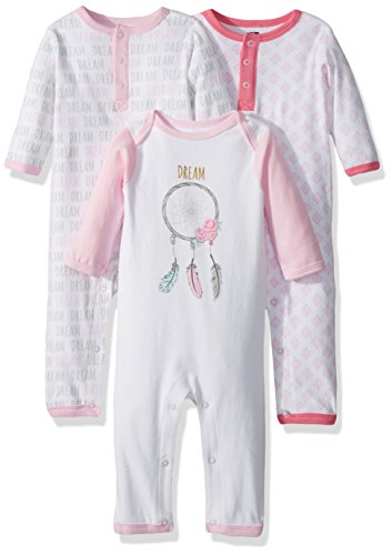 Hudson Baby Unisex Baby Cotton Coveralls, Dream Catcher, 3-6 Months
